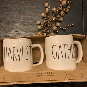 Rae Dunn Harvest & Gather Mugs